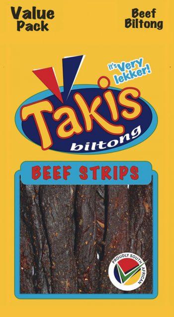 Beef strips biltong