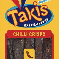 Chili flavoured biltong crisps