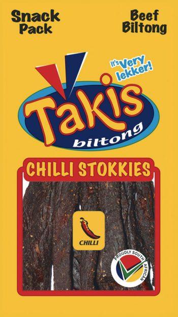 Chili biltong stokkies, snack pack