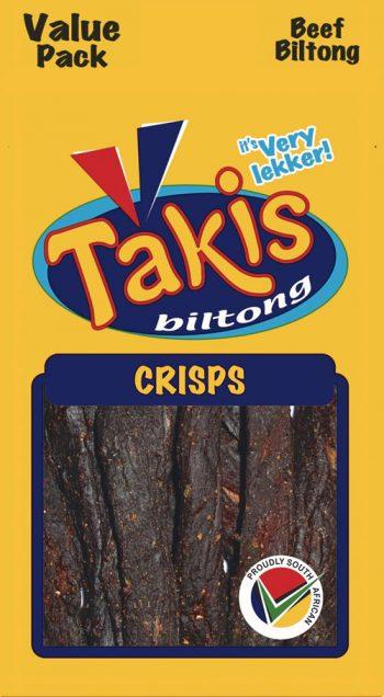 Biltong crisps, snack pack