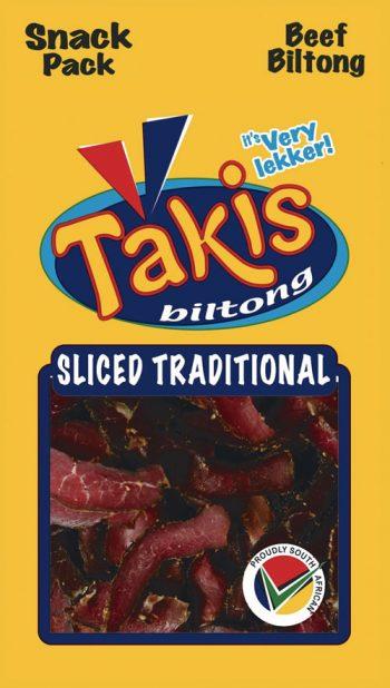 Sliced tradition biltong snack pack
